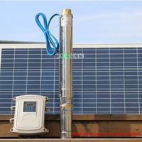 High quality 72V DC Pump Deep Well Pump Solar DC Brushless Submersible Pump With MPPT Controller 3DPC3.5 95 72 750 3.5m3/h 750W
