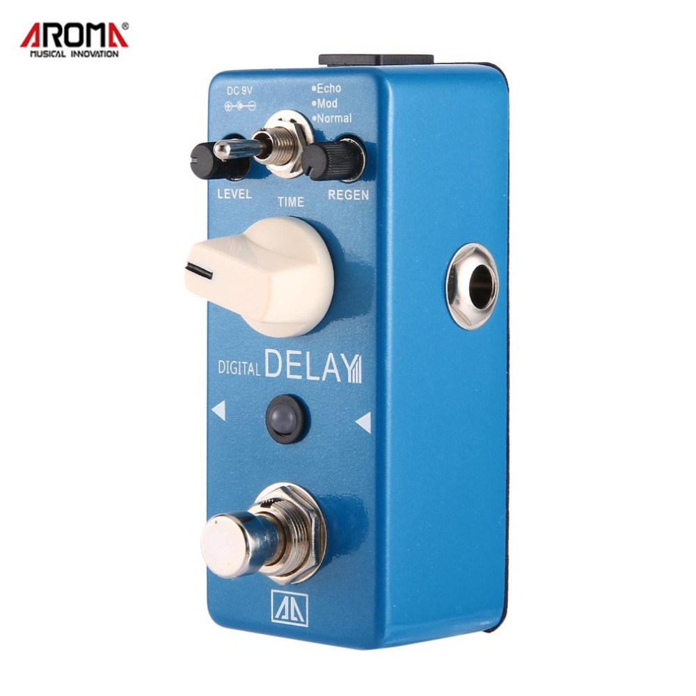 AROMA APE-5 Digital Delay Guitar Pedal 3 Modes Guitar Effect Pedal Aluminum Alloy Body True Bypass Guitar Parts & Accessories aroma aos 3 aos 3 octpus polyphonic octave electric mini digital guitar effect pedal with aluminium alloy true bypass
