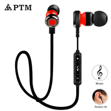 PTM Original Brand Earphone Bluetooth Wireless Headset with Microphone Earbuds for Xiaomi Auriculares Mobile phone
