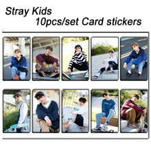 цена на 10pcs/set Stray kids KPOP photo cards stickers album sticky adshesive kpop Stray kids lomo card photocard sticker SKD00703
