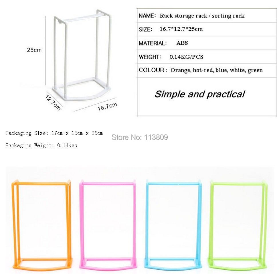 Wholesale Retail Creative Assembly Clothes Hanger Storage Organization  Sorting Rack Coat Hanger 4 Color HG103515 In Storage Holders U0026 Racks From  Home ...