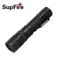 Original Supfire A2 CREE XM-L L2 1200LM MINI LED Flashlight USB Zooming Torch Flashlight with USB Rechargeable by 18650 Battery