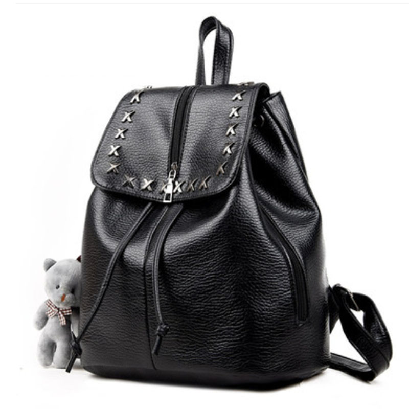 New Arrival Vintage Women Shoulder Bag Girls Fashion Schoolbag High Quality Rivet Women Bag