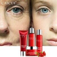 CAICUI conjunto espuma de limpeza rosto cuidados com a pele toner emulsão caracol branqueamento úmido anti rugas beleza conjuntos de cosméticos cuidados faciais