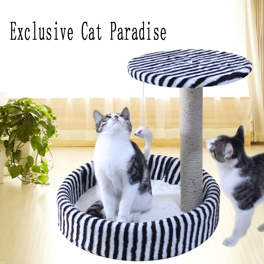 Nest Cute Cat Sisal Toy Tree House Claw Cats Toys Climbing Frame Pet Kitten Arbre A Chat Funny Durable Pet Products 70Z1568