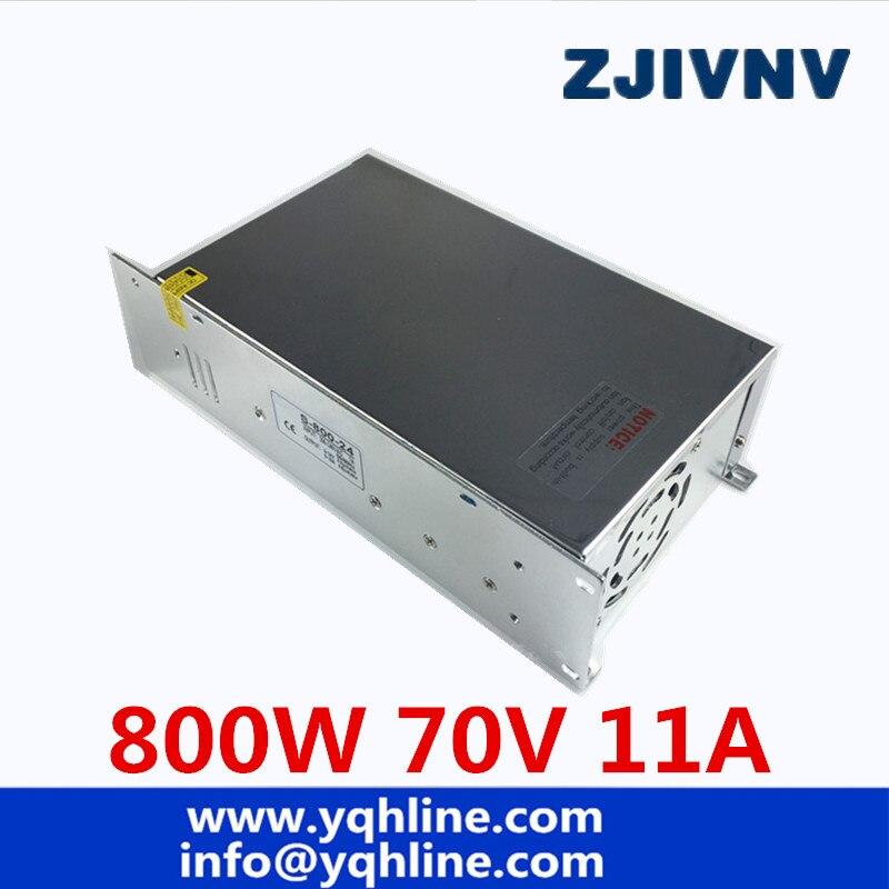 Universal DC 70 V 11A 800 W Commutateur Alimentation Régulée Transformateur 110 V 220 V AC à DC 70 V UPS Pour CNC Machine DIY LED Lampe CCTV
