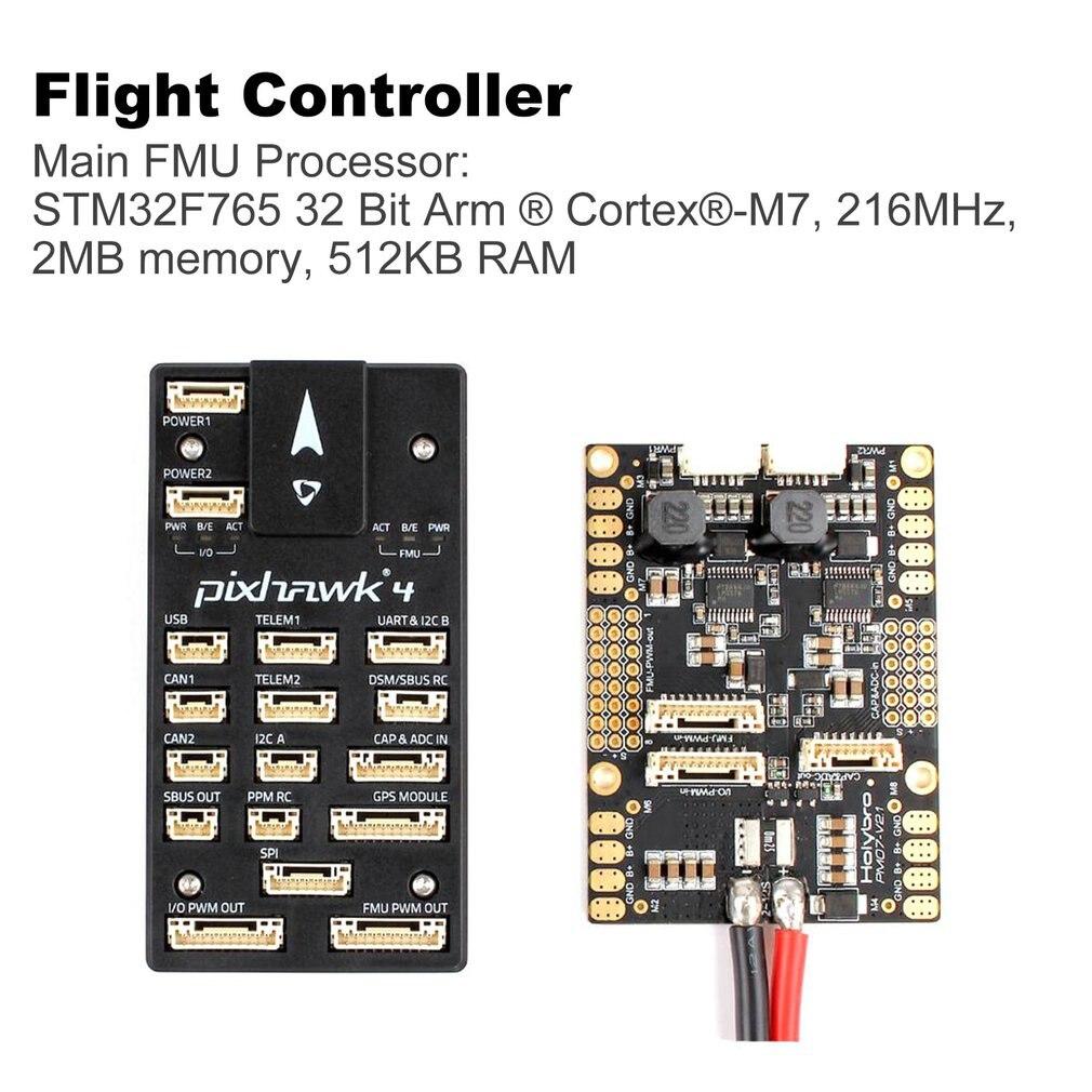 Holybro Pixhawk 4 contrôleur de vol 32 bits bras PM07 gestion de l'alimentation 5 V UBEC Module de capteur de sortie pour Drone de course RC