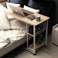 Тетрадь прикроватная компьютерный стол ленивый рабочего простой стол на бытовой кровать простой складной Передвижной столик Бесплатная д