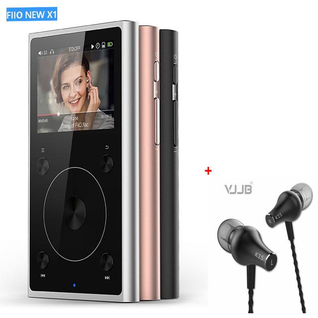 FIIO X1 2nd gen 192 kHz/32bit modo Dual Bluetooth 4.0 portátil de alta resolução lossless leitor de música PCM5242 D/A + Free Fone de Ouvido