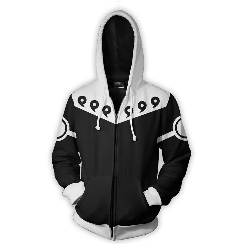 Japan Anime Hokage Naruto Costumes Uzumaki Naruto Sweatshirts Cosplay 3D printing jacket long-sleeved zipper Men's jacke