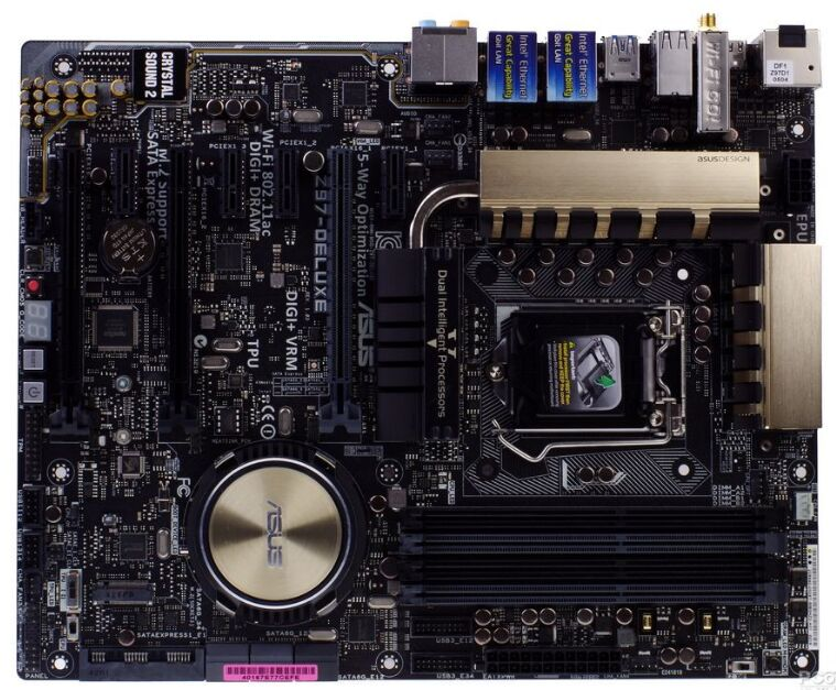 цена Original Used Asus Z97-Deluxe Desktop Motherboard Z97 for intel Socket LGA 1150 i3 i5 i7 DDR3 32G ATX UEFI BIOS Mainboard