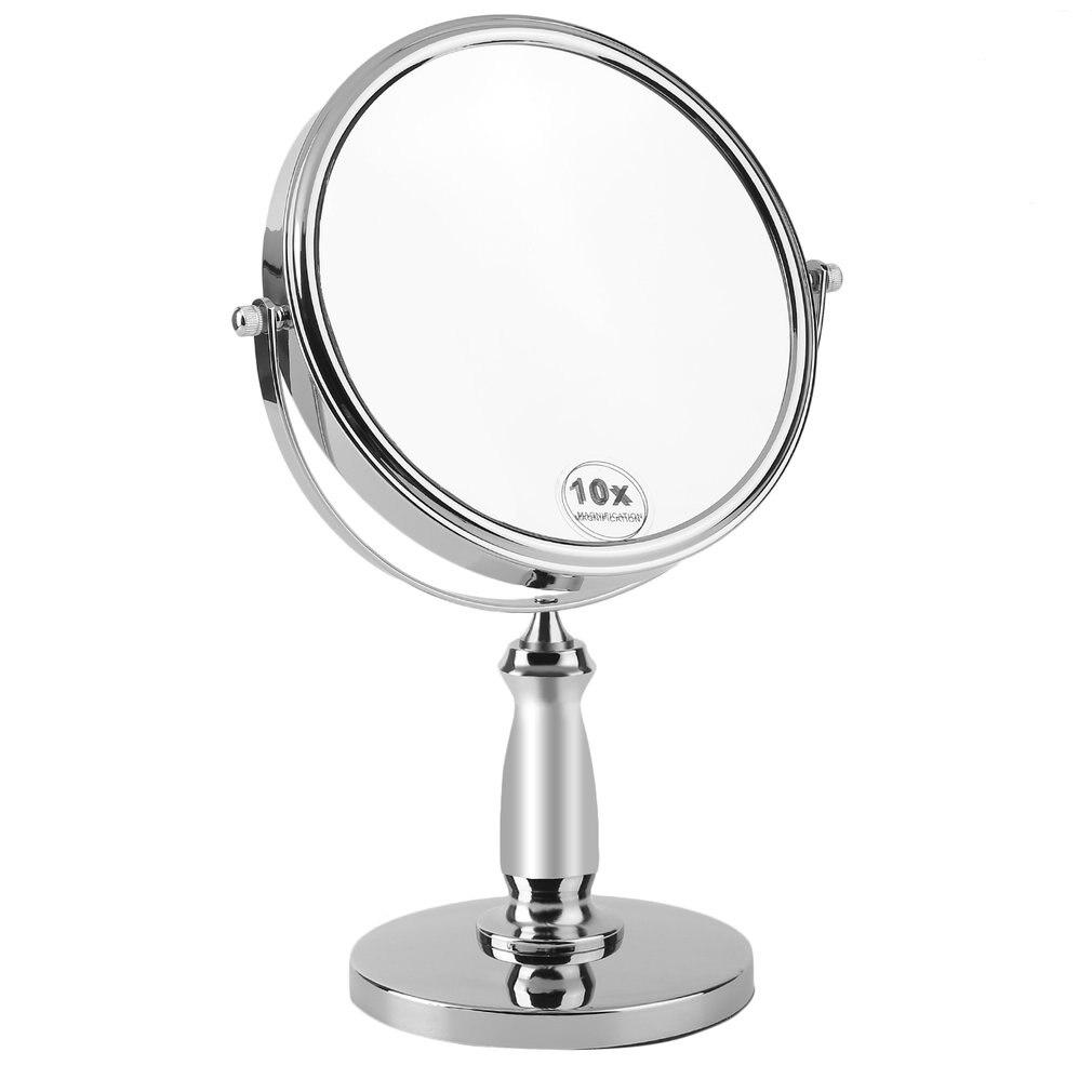 360 degrés pivotant 10X grossissement verre maquillage rasage cosmétique rond salle de bains Chrome finition miroir de bureau
