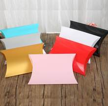 10pcs/lot Big Paper Pillow Box Underwear Scarf Packaging Box Large Cardboard Gift Boxes Party Present Box High Quality 36x21x6cm(China)