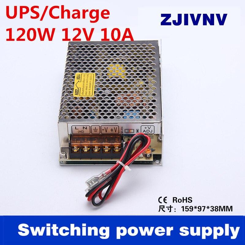 120 W 12 V 8A AC-DC UPS/función de carga fuente de alimentación entrada 110/220vac salida del cargador de batería 13,8 V SC-120-12