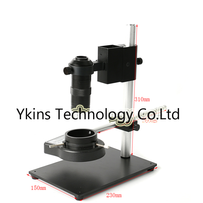 Metal Adjustable Microscope Holder Video Microscope Camera Stand LED Light Bar Stand + 144 LED Light Ring + 100X C-MOUNT LensMetal Adjustable Microscope Holder Video Microscope Camera Stand LED Light Bar Stand + 144 LED Light Ring + 100X C-MOUNT Lens