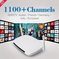 2017 1 Anos Livre Iptv Canais para o Canal Árabe Francês Itália Sky Europa com Caixa de TV Android Quad Core 1G/8G 2.4G WIFI Set Top Box
