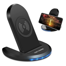 Universal 10W QI Wireless Charger Phone Charging Stand QC 2.0 Foldable Pad For IPhone Samsung Xiaomi Huawei