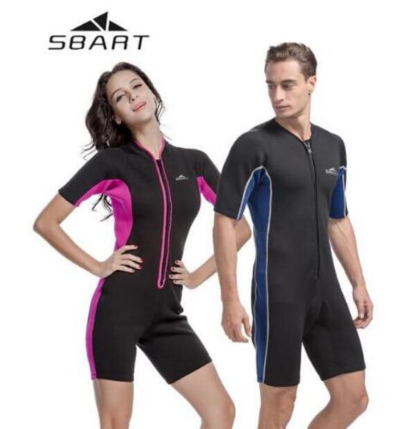 SBART 2mm Neoprene One-Piece Men   Women Diving Surfing Wetsuit Swimming  Suit Swimsuit Scuba Suit Swimwear Rashguard Rash Guard 48dd93d1d