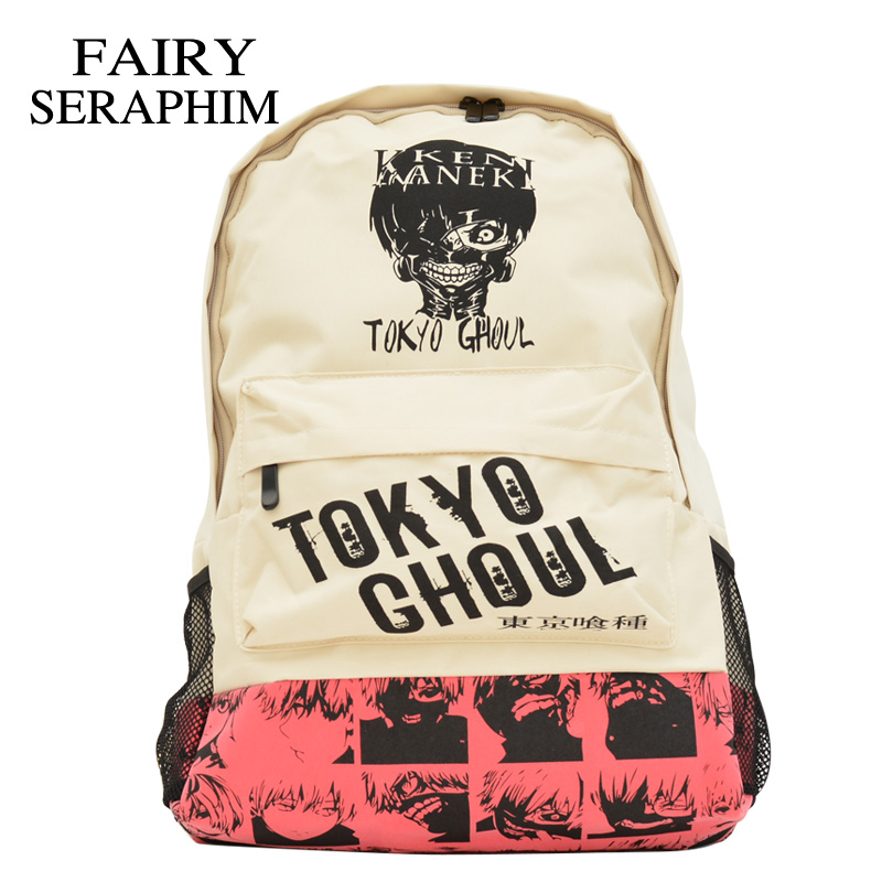 FAIRY SERAPHIM tokyo ghoul backpack printed head backpacks children Japanese anime school bags teenager casual wear bag