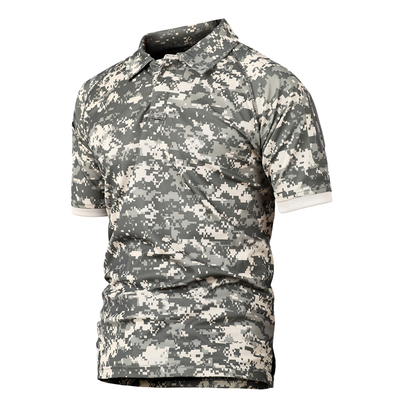New 2018 Summer Army T Shirt Men Military Shirt Mens Tactical Combat T Shirts Breathable Camouflage Quick Dry Tee Shirt S-2xl