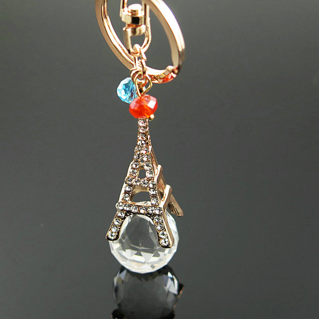 Crystal Paris Eiffel Tower Key Chain For Car Bag Pendant Key Ring Car Keychain For Women And Mentower