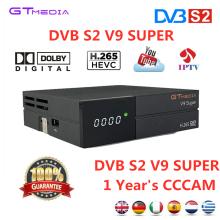 FREESAT Satellite Receiver TV box GTMEDIA DVB S2 V9 Super+1 Year Cccam Support H.265 AC3 CCCAM Newcam YOUTUBE IPTV set top boxes