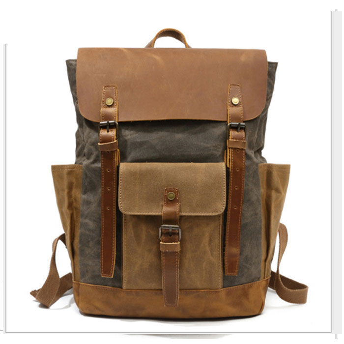 High Quality Vintage Canvas brown/khaki/gray Backpacks for Women Men Rucksack School Shoulder Bag Male Travel Mochila sac a dosHigh Quality Vintage Canvas brown/khaki/gray Backpacks for Women Men Rucksack School Shoulder Bag Male Travel Mochila sac a dos
