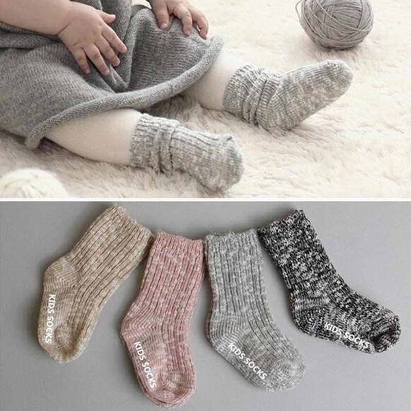 TongYouYuan Spring Autumn Newborn Baby Socks Unisex Kids Cotton Solid Floor Ankle Socks Child Kids Anti-Slip Keep Warm Sock