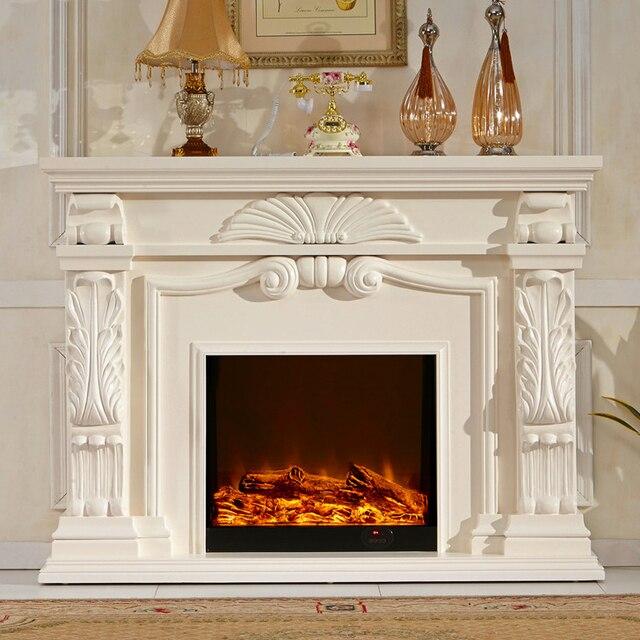 Wunderbar Englisch Stil Kamin Set Holz Kaminsims W160cm Elektrische Kamin Einfügen  Wohnzimmer Decor Heizung LED Optische Künstliche