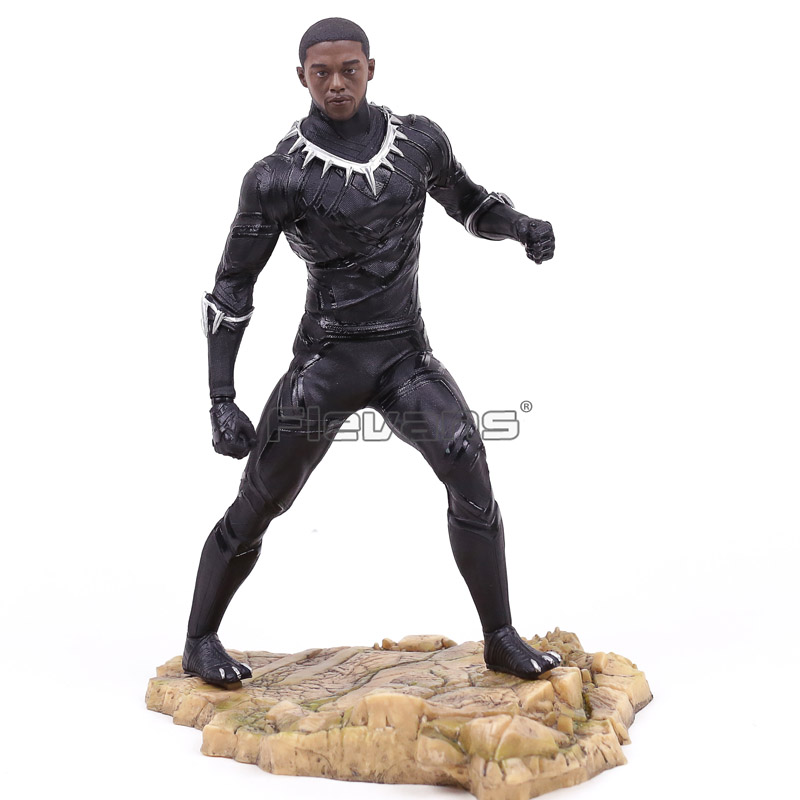 Marvel Super Hero Avengers Black Panther Statue PVC Figure Collectible Model Toy -in Action