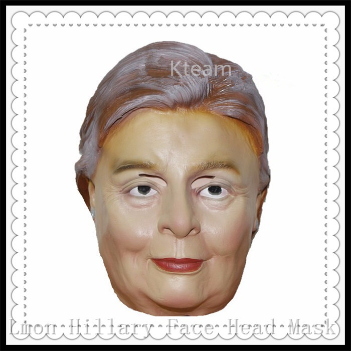 Adults Hillary Mask For USA Presidential Election Props Donald font b Trump b font Billionaire Halloween