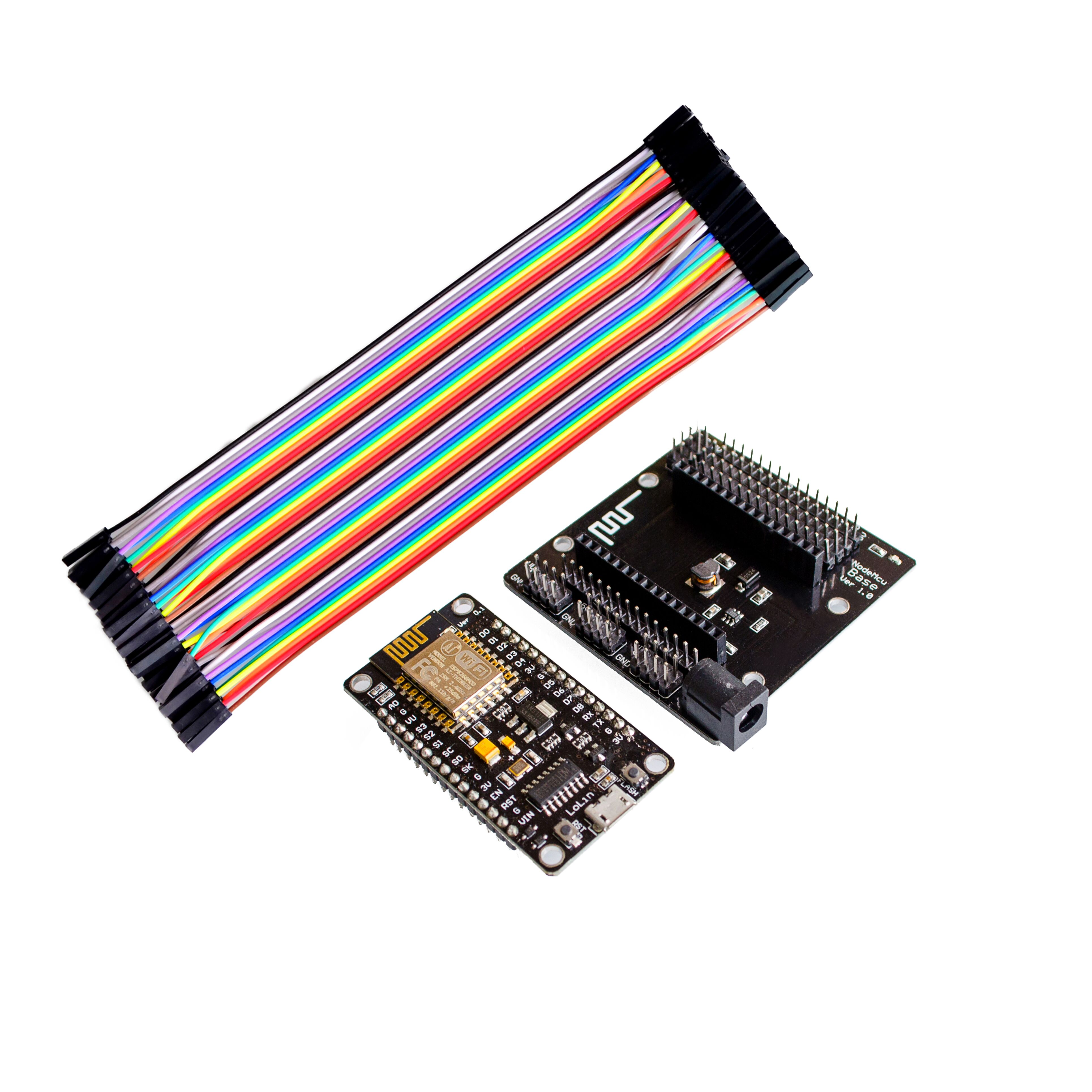 ESP8266 kit NodeMcu + NodeMcu base + 40P wires testing DIY Breadboard