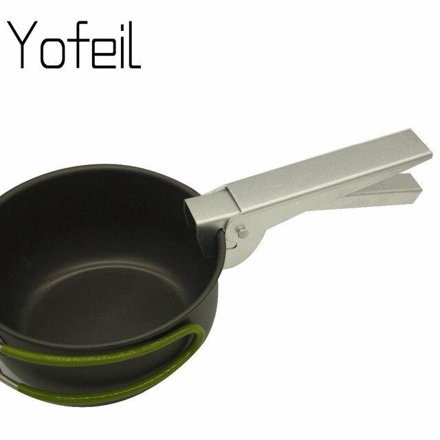 Outdoor Camping Picnic Durable Aluminum Alloy Cookware Tool Pan Bowl Pot Gripper Anti scald Clip Hand Clamp Pot Pliers