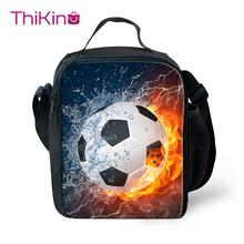 Thikin New 3D Printed Ball Lunchbox Food Picnic Bag for Boys  Cactus Small Lunch Students Pouch Storage