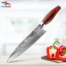 Нож шеф повара findking дамасский стальной нож 8 дюймов с цветной
