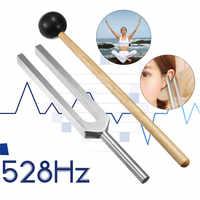528HZ Aluminium Legierung Tuning Gabel Chakra Hammer Mit Mallet Sound Heilung Therapie Für Ohr Pflege Medizinische Neurologischen Instrument