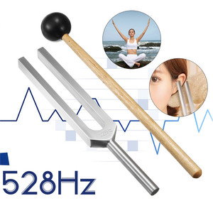 528HZ Aluminum Alloy Tuning Fork Chakra Hammer With Mallet Sound Healing Therapy For Ear Care Medical Neurological Instrument(China)