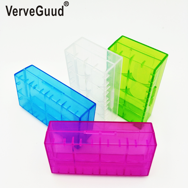 VerveGuud 1Pcs Plastic <font><b>Battery</b></font> Protective Storage Boxes <font><b>Cases</b></font> Holder For 18650 18350 16340 CR123A <font><b>18500</b></font> <font><b>Battery</b></font> Free shipping image