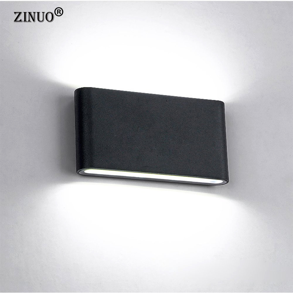 ZINUOAC85-265V 12W COB LED Wall Light IP65 Waterproof Light Fixtures Outdoor Wall Lamp Simple Style Indoor/Outdoor Decoration ...
