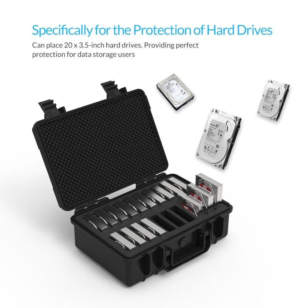 Boîtier de Protection ORICO 20 baies 3.5 pouces pour disque dur avec stockage et Protection HDD étanche à la poussière et aux chocs (PSC-L20) - 4