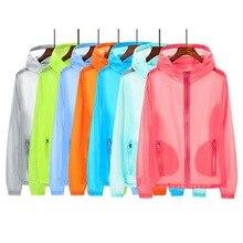 Vertvie УФ Защита от солнца одежда однотонные топы для бега прозрачные куртки с длинным рукавом летняя пляжная одежда солнцезащитный светильник