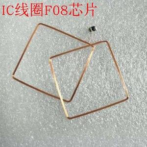Image 4 - 13.56MHz HF COB et antenne IC bobine de soudage domestique Fudan F08 puce RFID étiquettes 49*49*0.3mm 14443A