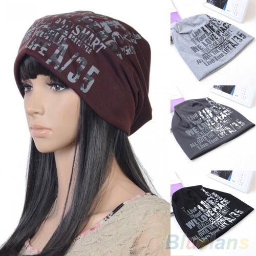 Hot Women's Men's Unisex Fashion Letter Hip-hop Baggy Beanie Cotton Blend  Hat Cap  228V hot winter beanie knit crochet ski hat plicate baggy oversized slouch unisex cap