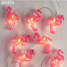 1/2/3/4/5M 50 LEDs Flamingo Table Lights Wire String Light Christmas Wedding Lighting LED Garland Strip Home Party Decoration