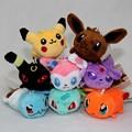 Japan 8pcs/set Poket Pet Plush Toy Eevee Family Movies TV Plush Toy Anime Soft Stuffed Animals Dolls Retail For Children Xmas