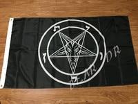 Бесплатная доставка Baphomet церковь сатана флаг 5 футов * 3 футов-Рыцари темплар сатана пентаграмма флаг