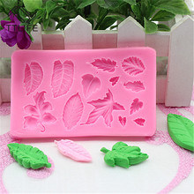 TTLIFE Leaves Silicone Mold Fondant Cake Pastry Decorating DIY Tools Chocolate Template Gumpaste Dessert Baking Mould