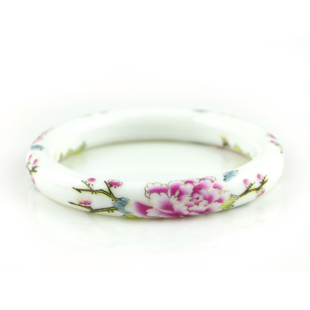 Novi modni dizajn vintage cvijet keramika narukvice kineski - Modni nakit - Foto 4