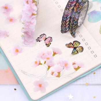 Washi Masking Tape Sakura Flower Paper Tapes Decoration DIY Scrapbooking Sticker