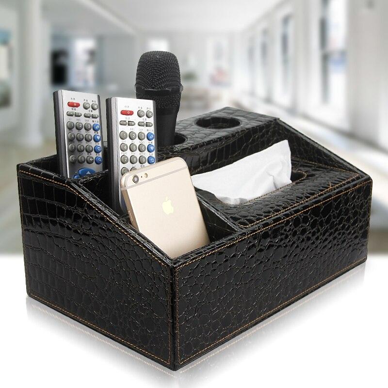 КТВ Микрофон Держатель многоцелевой Ткани Коробка Картридж Пульт Дистанционного Управления Мобильный Телефон Ящик Для Хранения Рабочего …